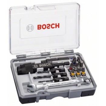 BOSCH 20-diel. súprava skrutkovacích hrotov Drill&Drive PH2</br> PH2</br> PZ2</br> SL5</br> H4</br> H5</br> T15</br> T20</br> T25