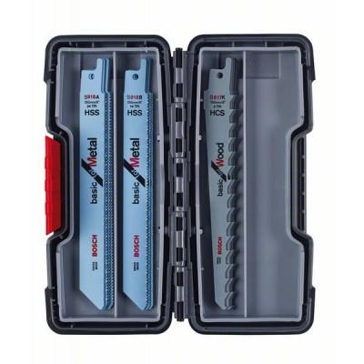 BOSCH 15-dielna súprava pílových listov do chvostovej píly, Wood and Metal Basic S 918 AF (5x)</br> S 918 BF (5x)</br> S 617 K (5x)