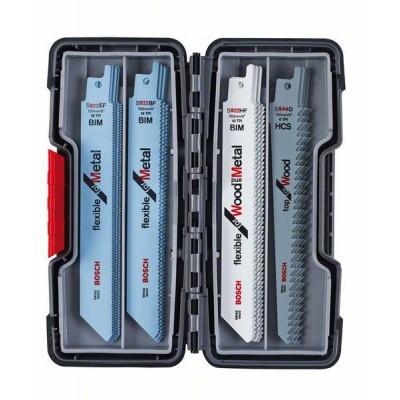 BOSCH 20-dielna súprava pílových listov do chvostovej píly, Wood and Metal S 922 EF (5x)</br> S 922 BF (5x)</br> S 922 HF (5x)</br> S 644 D (5x)