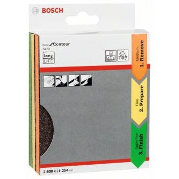 BOSCH 3-dielna súprava brúsnych vložiek 98 × 120 × 13 mm, M, F, SF