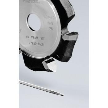FESTOOL Drážkovacia fréza tvaru V HW 118x14-90°/Alu
