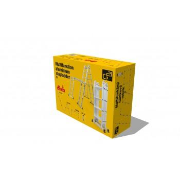 G21 Hliníkové štafle G21 GA-SZ-4x3-3,7M multifunkčné