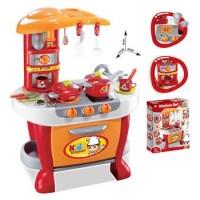 Detská kuchynka G21 Malý kuchař s příslušenstvím, oranžová