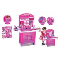 Detská kuchynka G21 Superior s příslušenstvím růžová